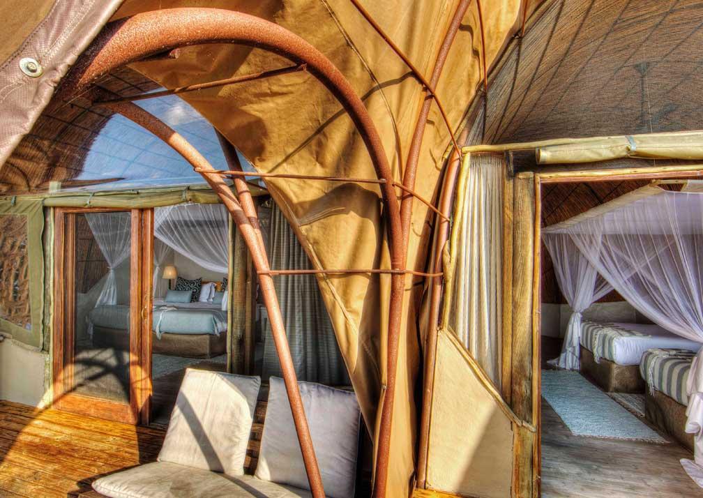 Camp Okuti cabin interior