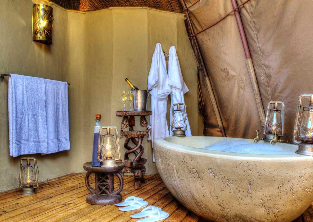 Camp Okuti bathroom