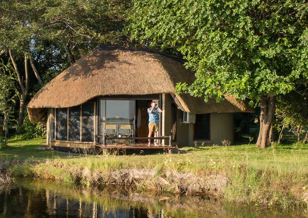 Chobe Savanna Lodge cabin exterior