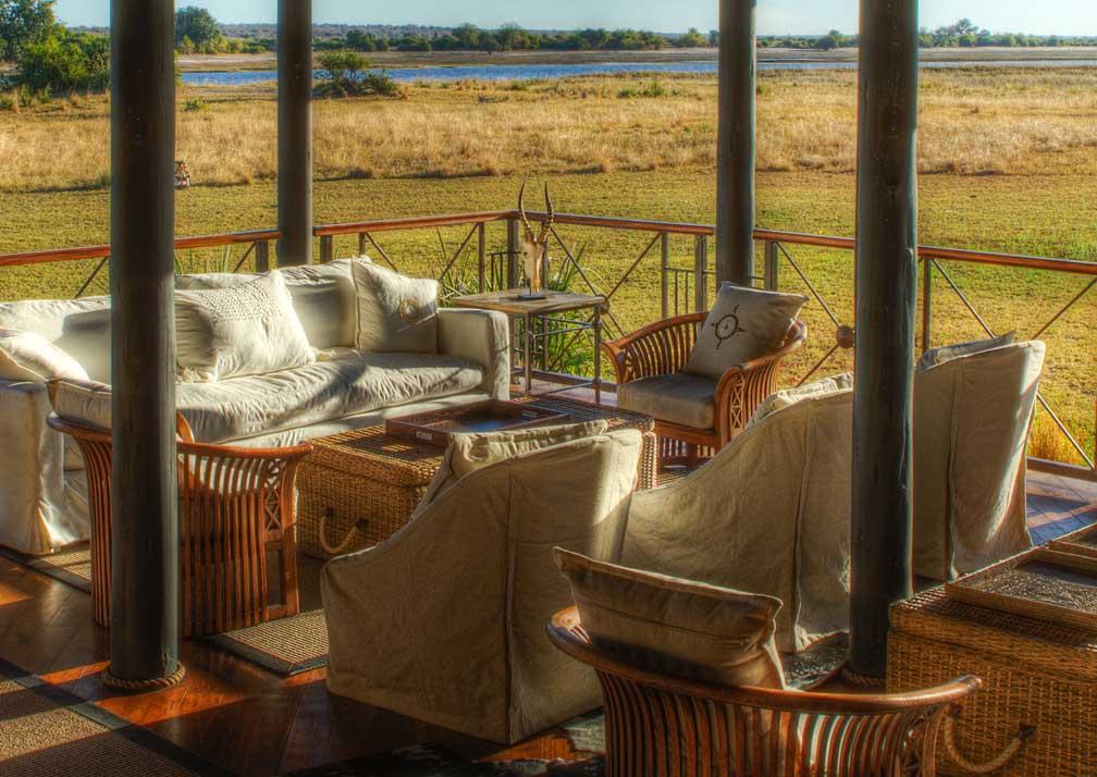 Chobe Savanna Lodge sheltered lounge