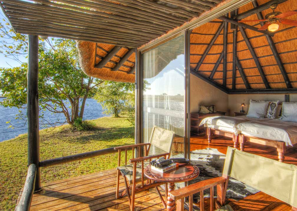 Chobe Savanna Lodge private veranda