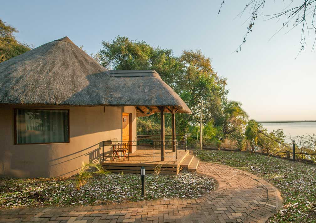 Chobe Safari Lodge rondavel exterior