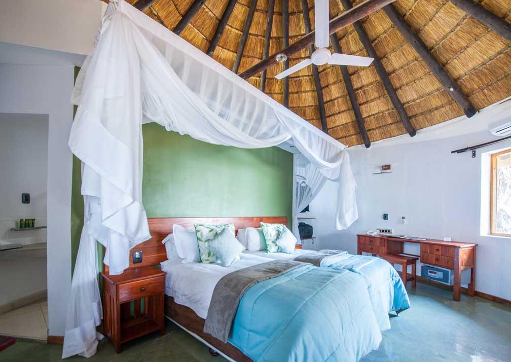 Chobe Safari Lodge rondavel bedroom