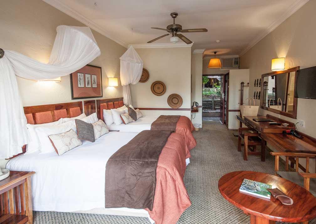 Chobe Safari Lodge river room bedroom