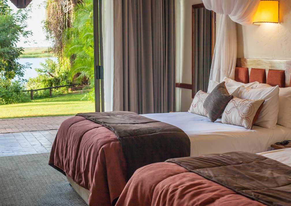 Chobe Safari Lodge river room beds