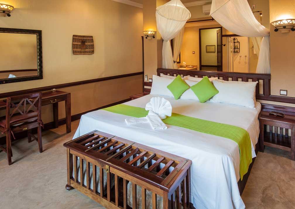 Chobe Safari Lodge safari room bed