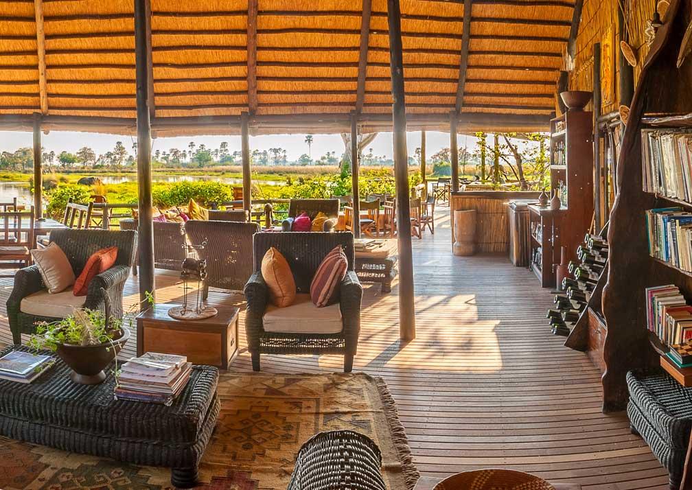 Delta Camp lounge and veranda