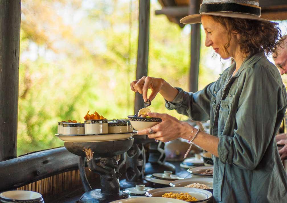 Delta Camp local cuisine