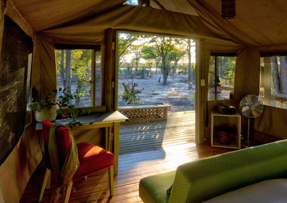 Hyena Pan tent interior and veranda