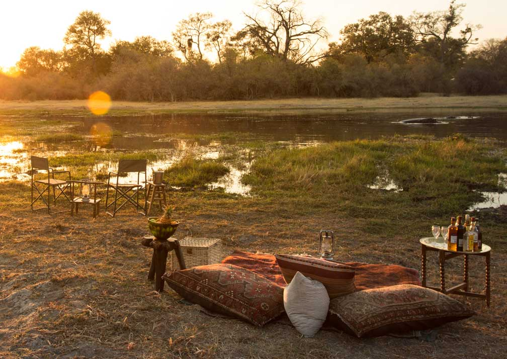 Little Machaba Camp outdoor seating