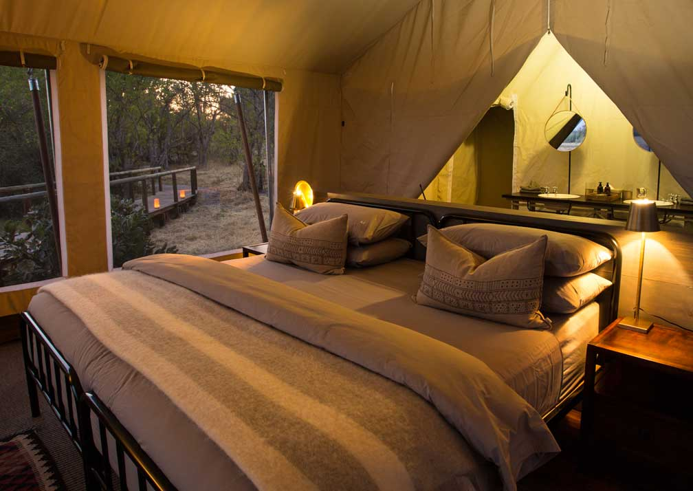 Little Machaba Camp double bed