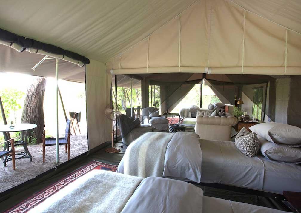 Machaba Camp twin beds