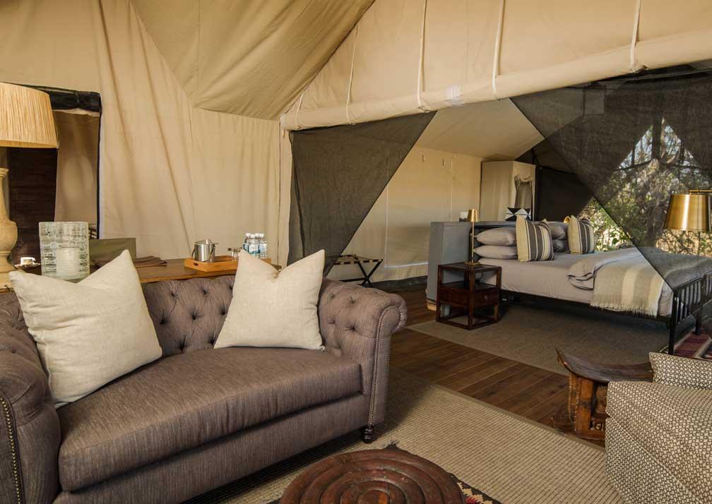 Machaba Camp tent interior