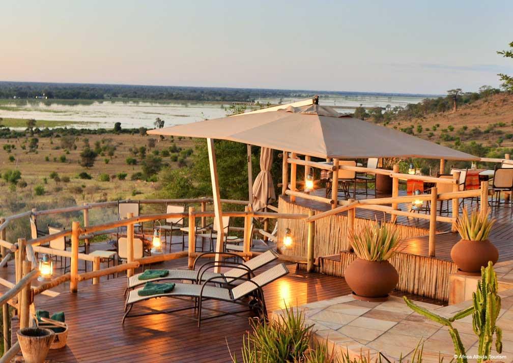 Ngoma Safari Lodge decking