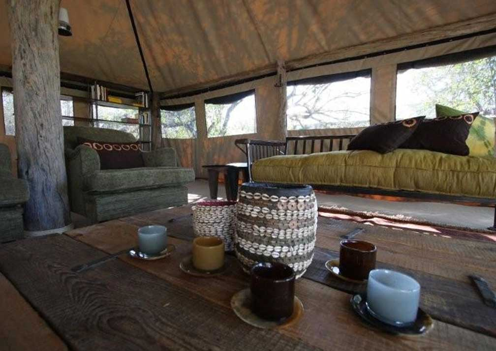 Sango Safari Camp lounge
