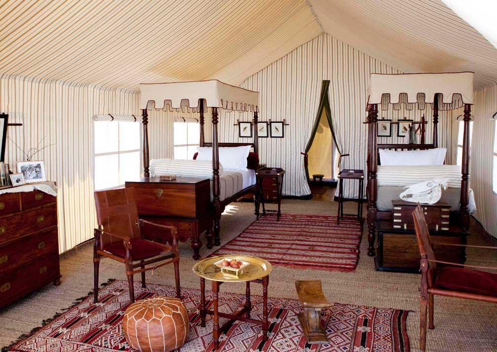 San Camp tent interior