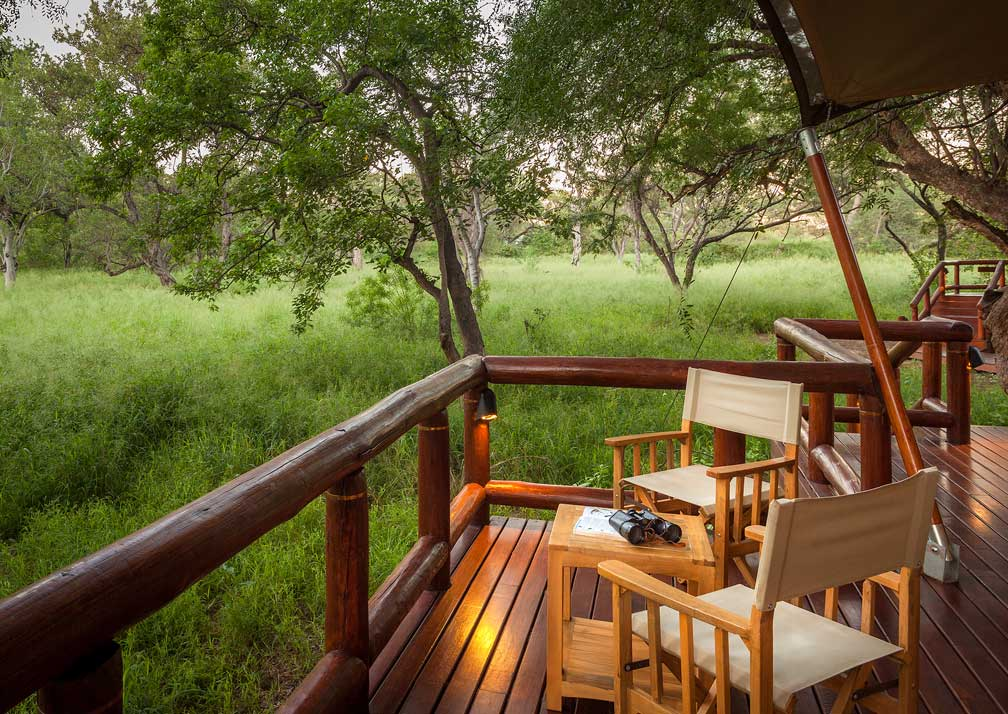 Tuli Safari Lodge outdoor seating