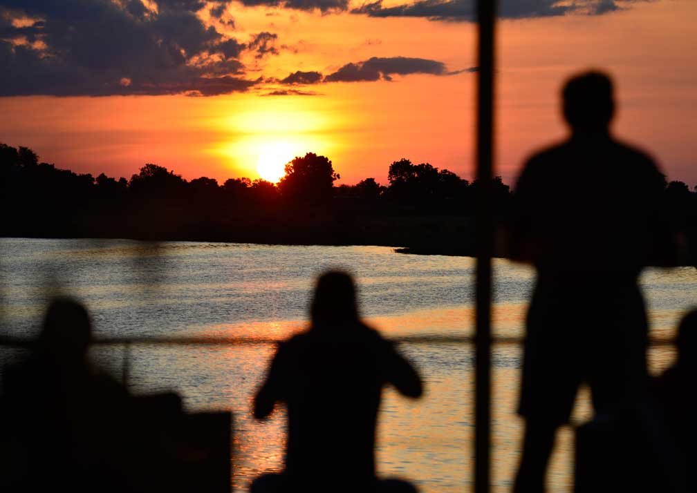 Zambezi Queen sunset on deck