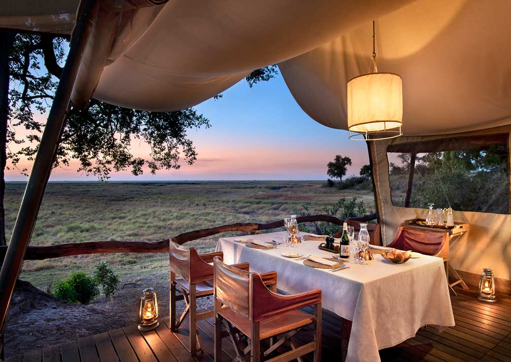 Dinner at Linyanti Expeditions