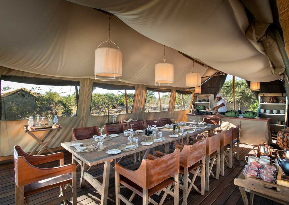 Linyanti Expeditions dining tent
